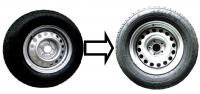 Замена колес 185/80/R14С на колёса 195/75/R15С в двухосном прицепе САНТЕЙ