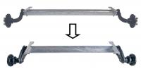 Замена оси 750кг на ось 1300кг и колёс 165/70/R13 на 185/80/R14С в одноосном прицепе САНТЕЙ