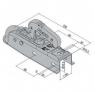 Сцепное устройство АК7 750 кг, квадрат 50 мм